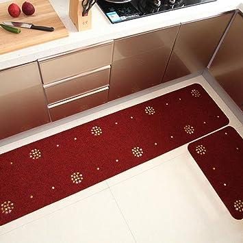 Segle Tapis Cuisine Antiderapant Absorbant Tapis De Sol Devant Evier Machine Lavable Vin Rouge 45 180cm