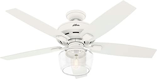 Hunter Fan Company 50279 Hunter 52 Bennett Ceiling Fan with Light, Matte White