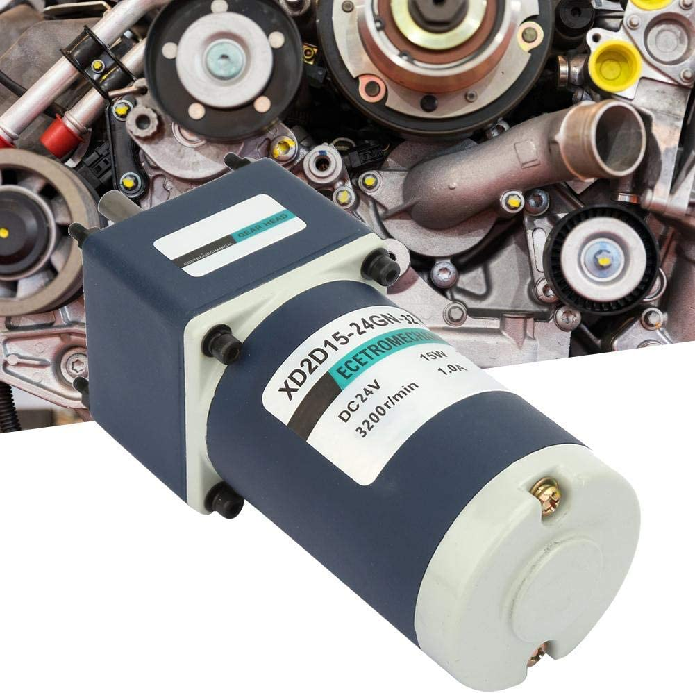 15W XD2D15-24GN-32S CW//CCW Permanent Magnet Reduction Gear Motor Adjustable Speed Gear Motor 15, 210RPM KONGZIR DC24V Reduction Motor