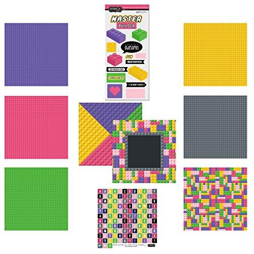 Scrapbook Customs Themed Paper and Stickers Scrapbook Kit, Master Builder Girl