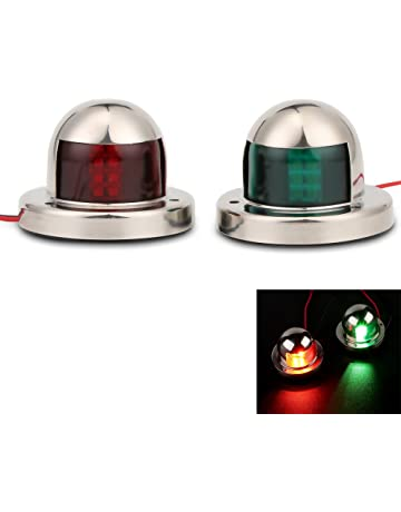 Plastik LED Bogen Navigationslicht rotes Segeln Signallicht für Bootsmarine