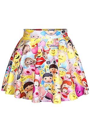 (シーファニー)Cfanny レディース ファッション 絵文字 Emoji カートン 夏 可愛い ショート 美脚 ミニ スカート
