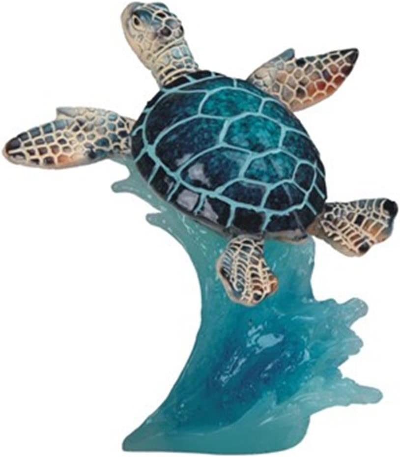 StealStreet SS-G-90140, 5 Inch Blue Sea Turtle Swimming - Collectible Figurine Statue