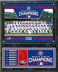 Chicago Cubs 2016 World Series Champions Team Sit Down Plaque - 12 x 15 Photo - Licensed MLB Baseball Memorabilia