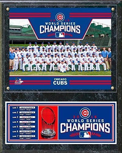Chicago Cubs 2016 World Series Champions Team Sit Down Plaque - 12 x 15 Photo - Licensed MLB Baseball (Champions Team Plaque)