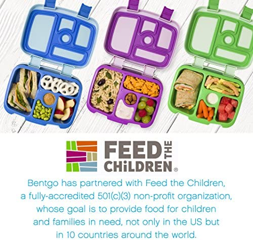 Bentgo Kids Childrens Lunch Box  BentoStyled Lunch Solution Offers Durable LeakProof OntheGo Meal