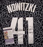Dirk Nowitzki Dallas Mavericks Autographed Crazy Light Black #41 Jersey JSA COA