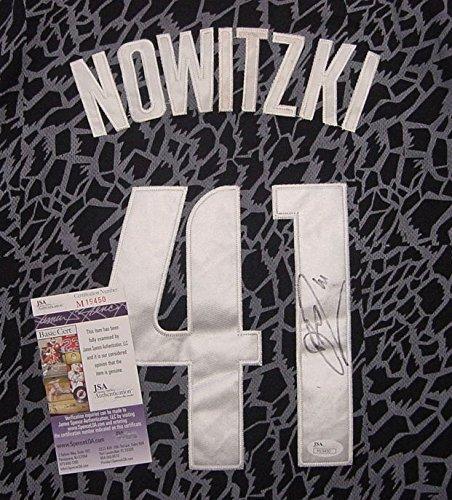 Dirk Nowitzki Dallas Mavericks Autographed Crazy Light Black #41 Jersey JSA COA
