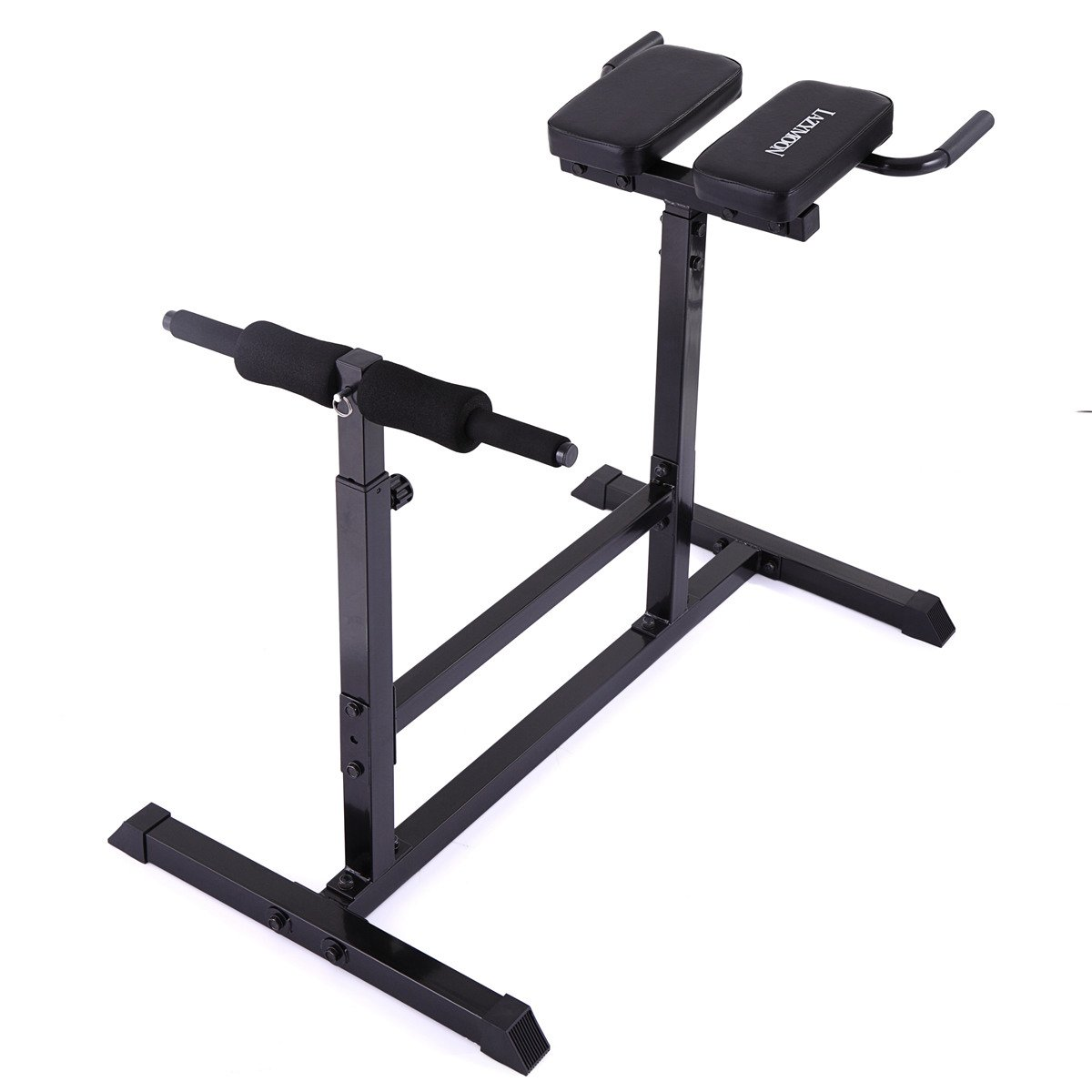 LAZYMOON Roman Chair Back Hyperextension Abdominal Bench Gym Strength Exercise Home Gym Workout Training by LAZYMOON