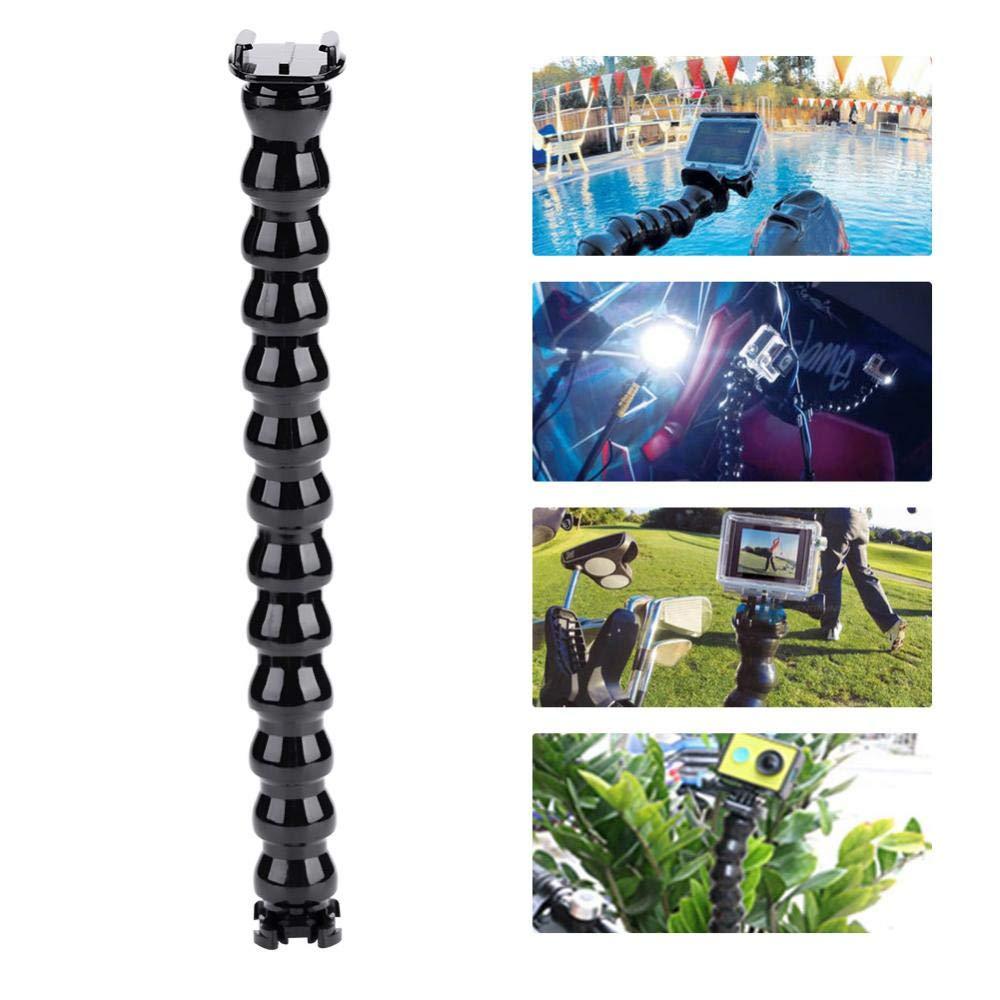 Staffa Braccio Flessibile per Fotocamera Sportiva Multi-Funzione per Gopro Hero per SJCAM e Altro Ancora 19 sezioni Mugast Supporto Telecamera Portatile
