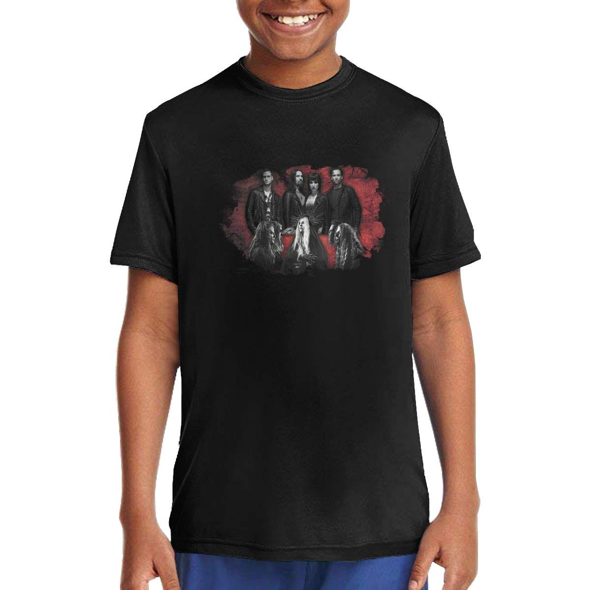 Halestorm Music//Rock//Singer Cotton Round Neck Short Sleeve T Shirt for Teen Boys and Girls Classic Fit Black