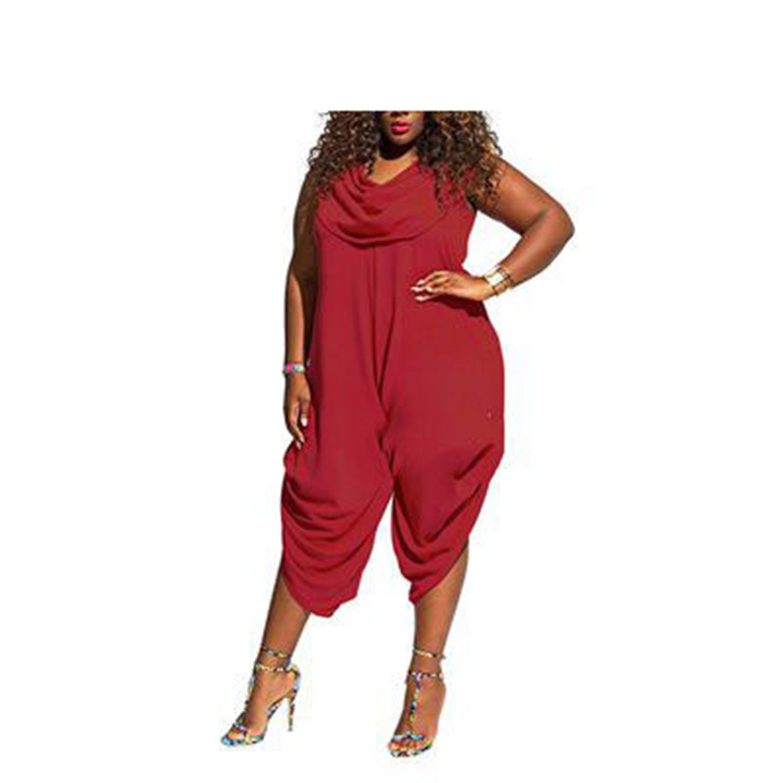ylovego Plus Size 4XL 5XL New BrWomen Jumpsuit Female Rompers Red XXXL