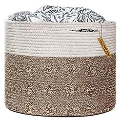 Goodpick Large Cotton Rope Basket 15.8