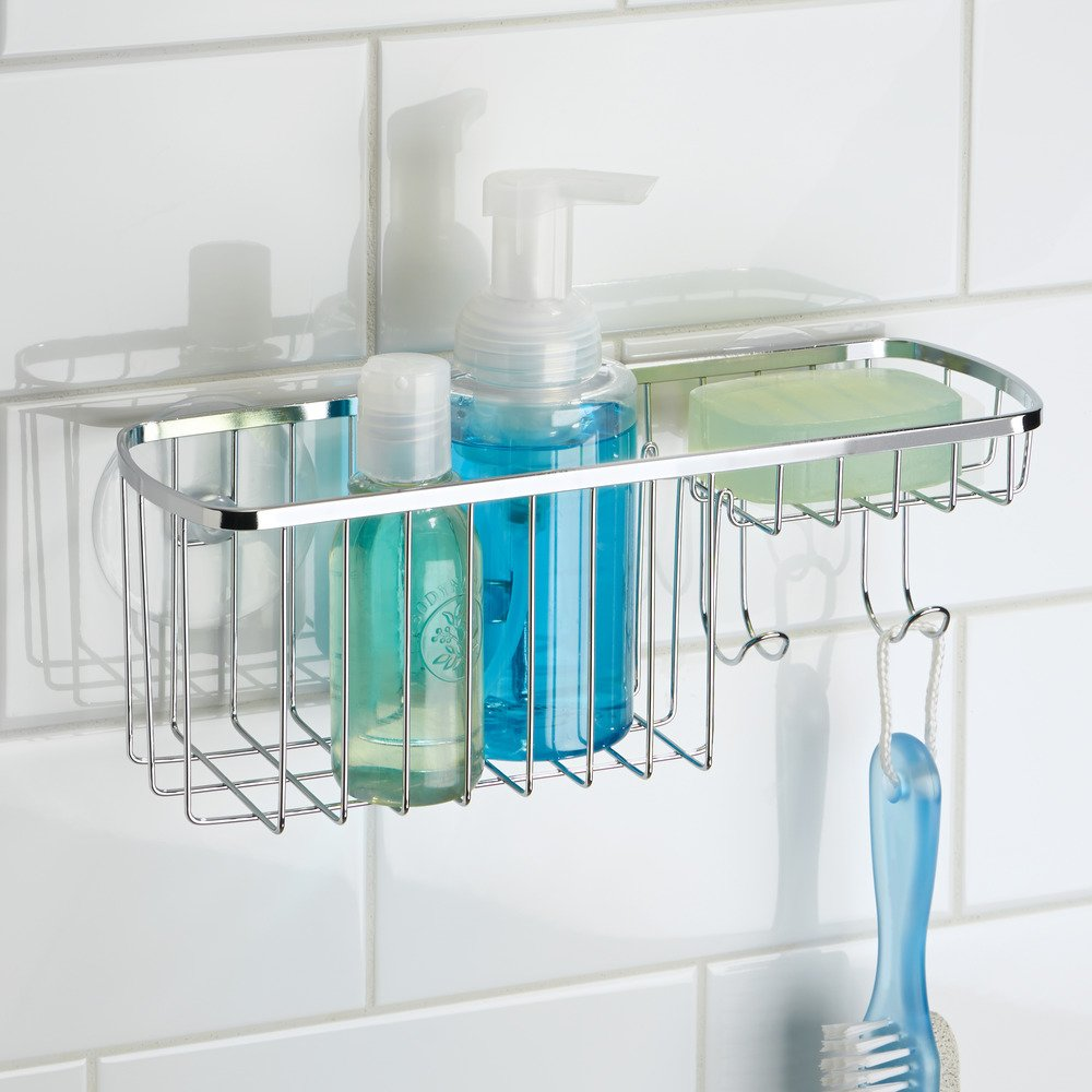 Amazon.com: InterDesign Suction, Combo Basket, Polished Stainless ...