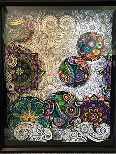 Three Dimensional Mandala Drawing by Art by Michele Rosa