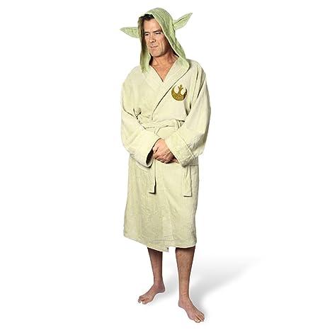 Star Wars Yoda algodón con capucha del traje de Albornoz ...