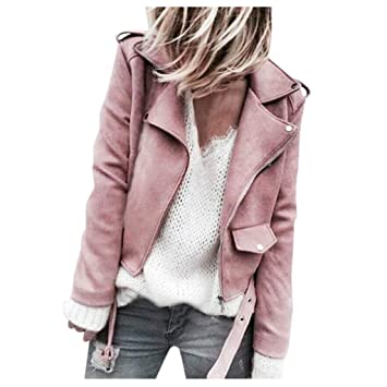 Blibea Womens Casual Short Zipper Lightweight Bomber Jackets Coat Outwear
