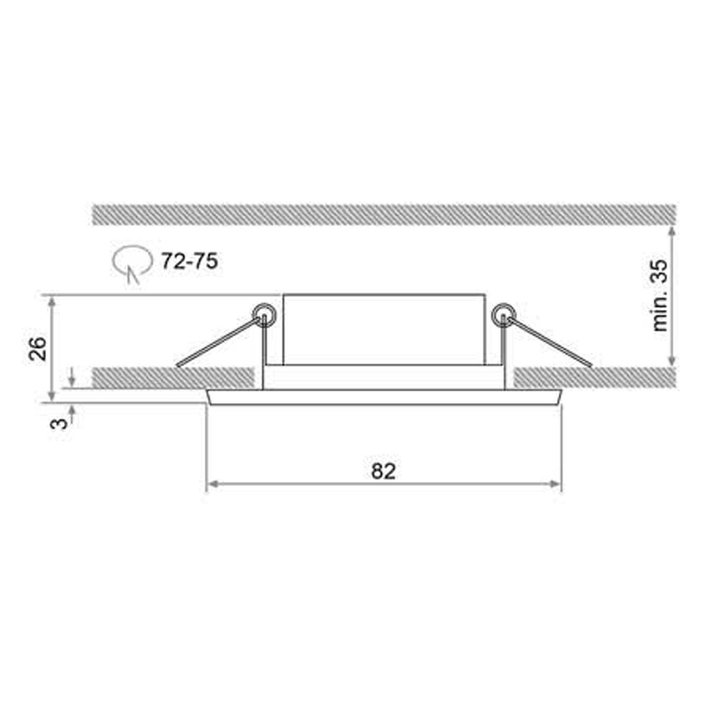 3er Set STELLA STELLA STELLA Matt-Chrom [Extra flach - nur 25mm Einbautiefe] 230V LED SMD 3.5W Warmweiß Decken Einbaustrahler Einbauspots Deckenspots [schwenkbar] 1bbd5d
