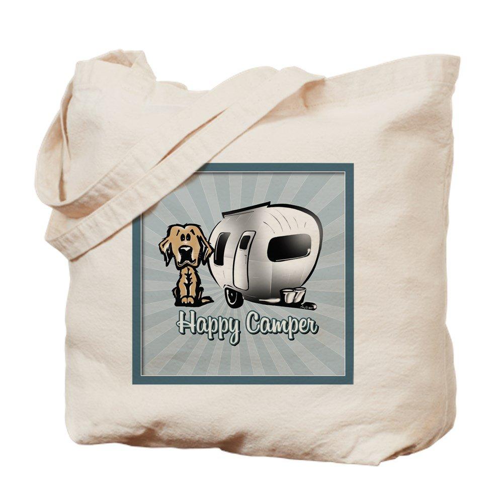 注目ブランド CafePress – Happy Camper犬 Camper犬 B01JORIINU – ナチュラルキャンバストートバッグ Happy、布ショッピングバッグ B01JORIINU, イーモノ:280876fd --- martinemoeykens.com