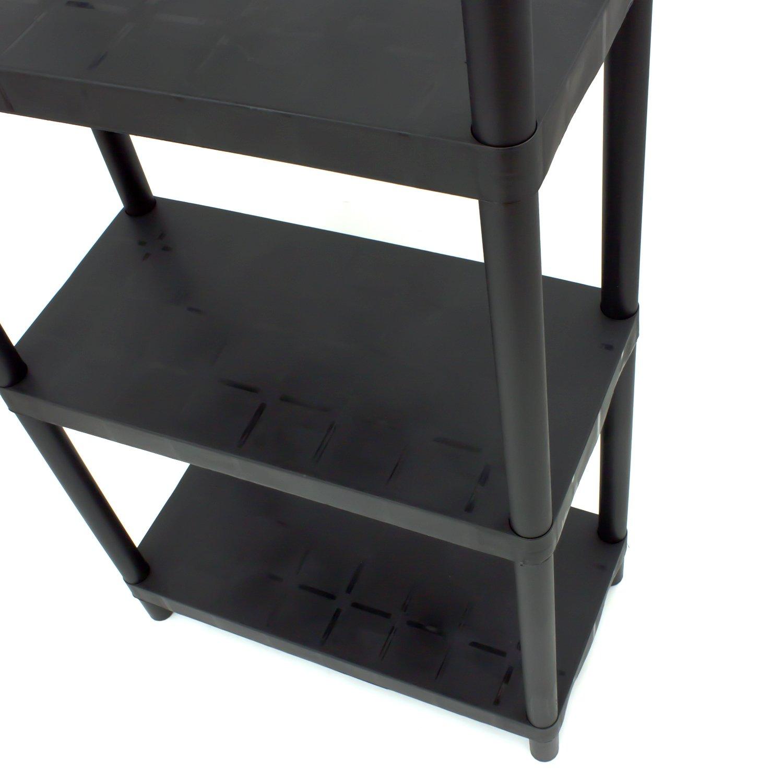 Keter /Étag/ère en r/ésine avec 4/tablettes Noir 184/x/85/x/41/cm