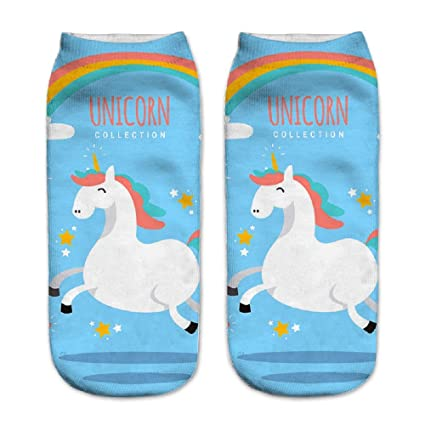 Calcetines tobilleros deportivos, de la marca Jysport, con estampado de unicornio, Fullness unicorn