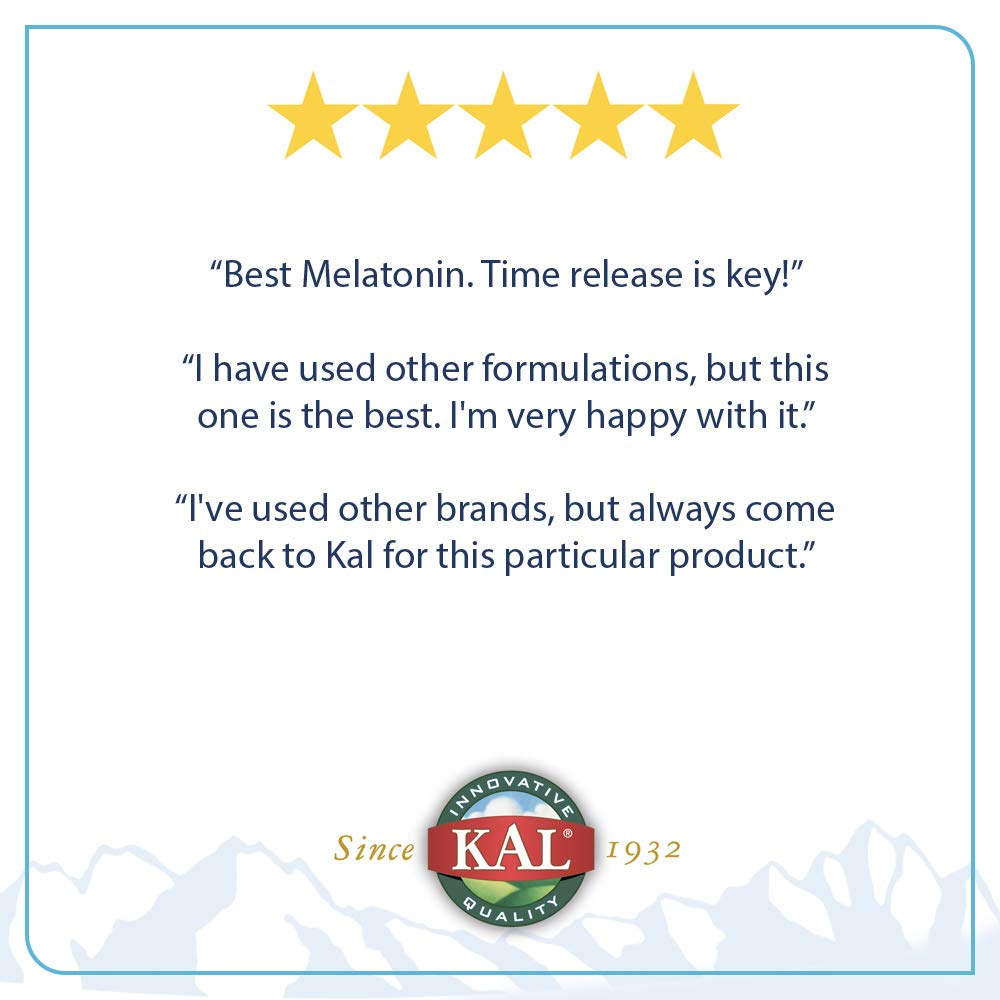 Amazon.com: Melatonin 3mg Sustained Release Kal 60 Tabs: Health & Personal Care