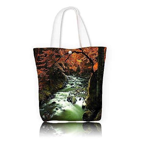 f6a4c7e32e55 Amazon.com: Canvas Tote Handbag -W17.7 x H14 x D7 INCH/work school ...