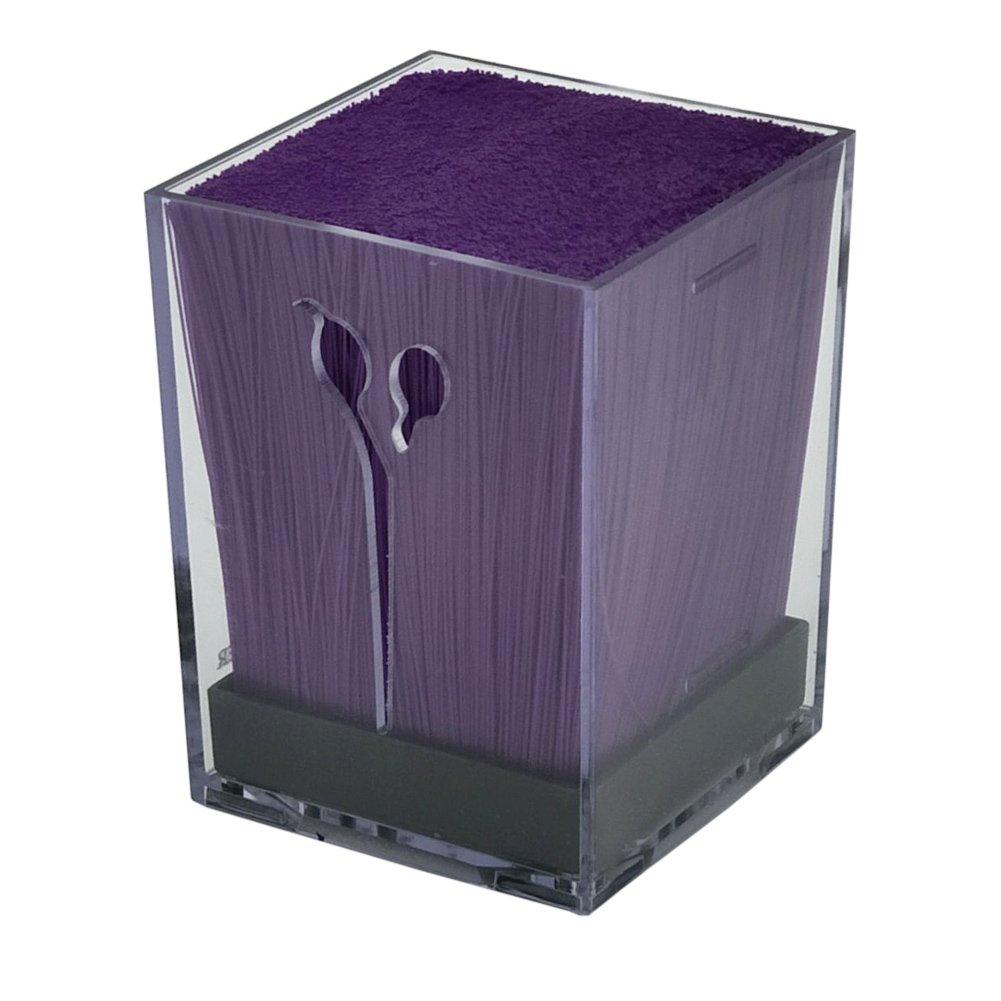 Olpchee Transparent Acylic Salon Scissors Holder Box Hairdressing Combs Clips Organizer Racks for Hair Stylist (Purple)