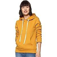 Popster Navy Blue Solid Fleece Hoody Regular Fit Long Sleeve Womens Sweatshirt | Winter Wear for Women & Girls | for Dailywear, Casual, Office Wear