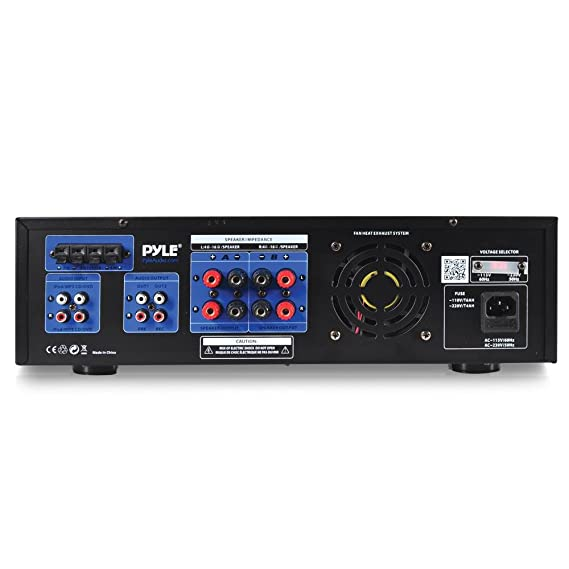 Wireless Bluetooth Power Amplifier System - 300W 4 Channel Home Theater Audio Stereo Sound Receiver Box Entertainment w/USB, RCA, 3.5mm AUX, LED, ...