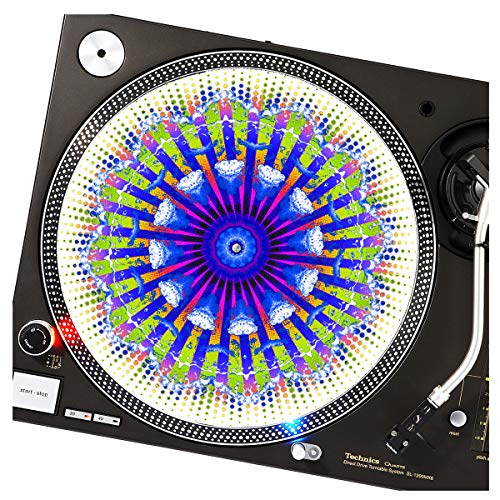 (Heaven Clouds - GLOW Series DJ Turntable Slipmat (glows under black light))