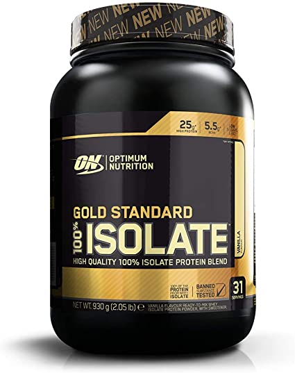 Optimum Nutrition 100% Gold Standard Isolate, Proteina Whey Isolate en Polvo para Aumentar Masa Muscular, Proteina Isolada, Vainilla, 31 Porciones, ...