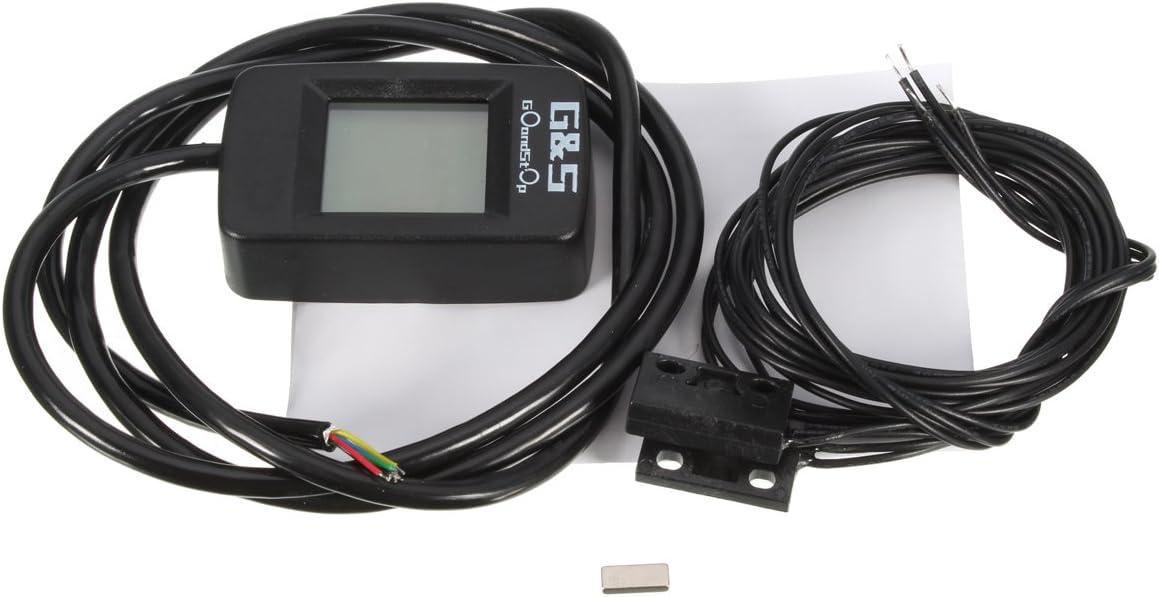 Alamor Universal Motorrad Atv Digital Lcd Ganganzeige 1-6 Schalthebel Sensor Rot