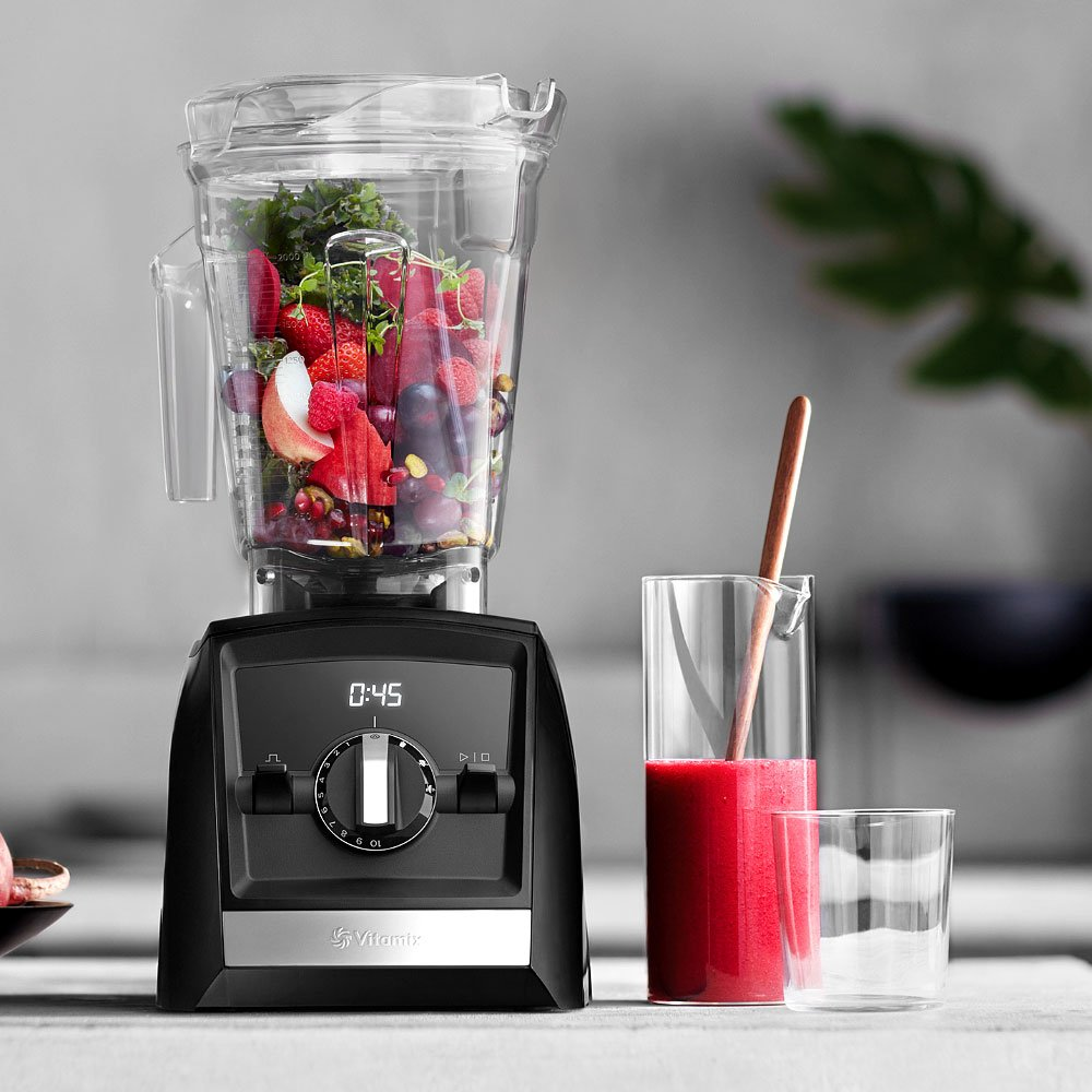 Black 10-Year Full Warranty Vitamix Simply Blending Blending Recipe Cookbook Low-Profile Tamper Vitamix A2500 Ascent Series Blender with 64-Ounce Container