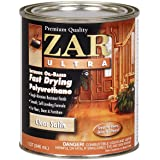 ZAR 32912 Zar Ultra Polyurethane Clear Interior Wood Finish, Satin - Quart