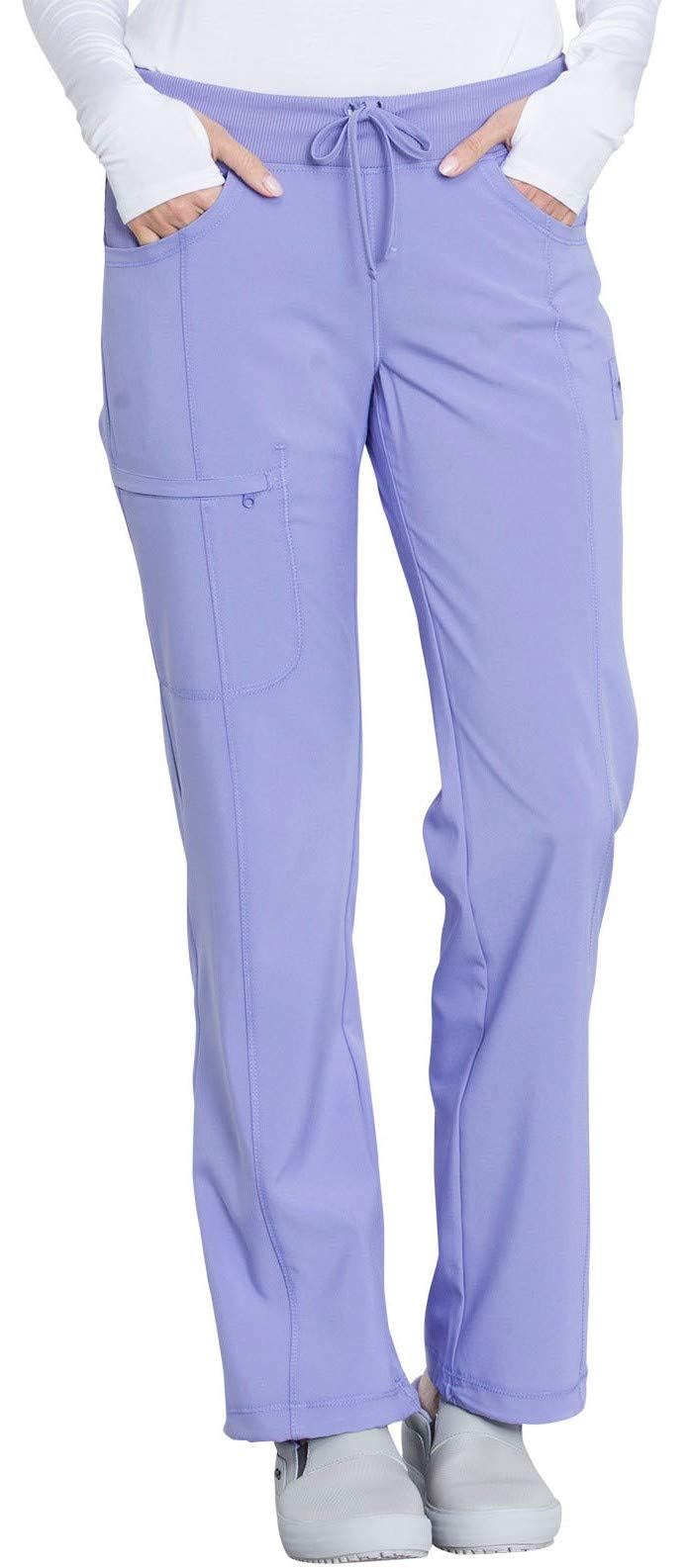 Cherokee Infinity 1123A Low Rise Drawstring Pant, Blue Lilac, XS