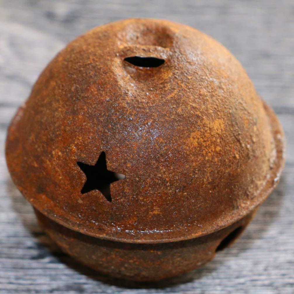 Healifty 12pcs jingle bells Craft Bells Metal rustic bells small bells Christmas DIY craft 40mm