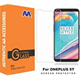 AA Accessories Premium Pro Hd+ Crystal Clear Tempered Glass Screen Protector For Oneplus 5T