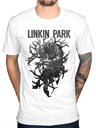 ecf5f652b2 Official Linkin Park Antlers T-Shirt Rock Band Merchandise White