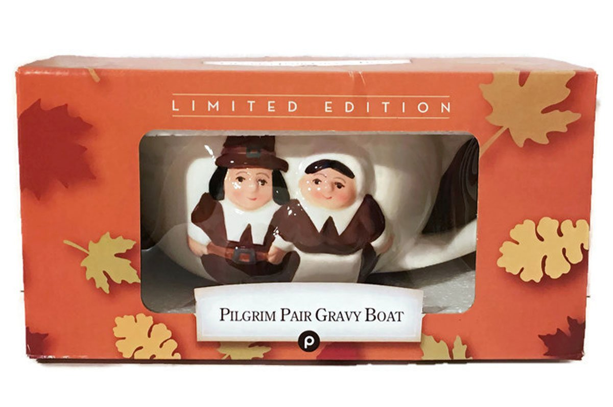 The Pilgrim Pair Thanksgiving Gravy Boat by Publix