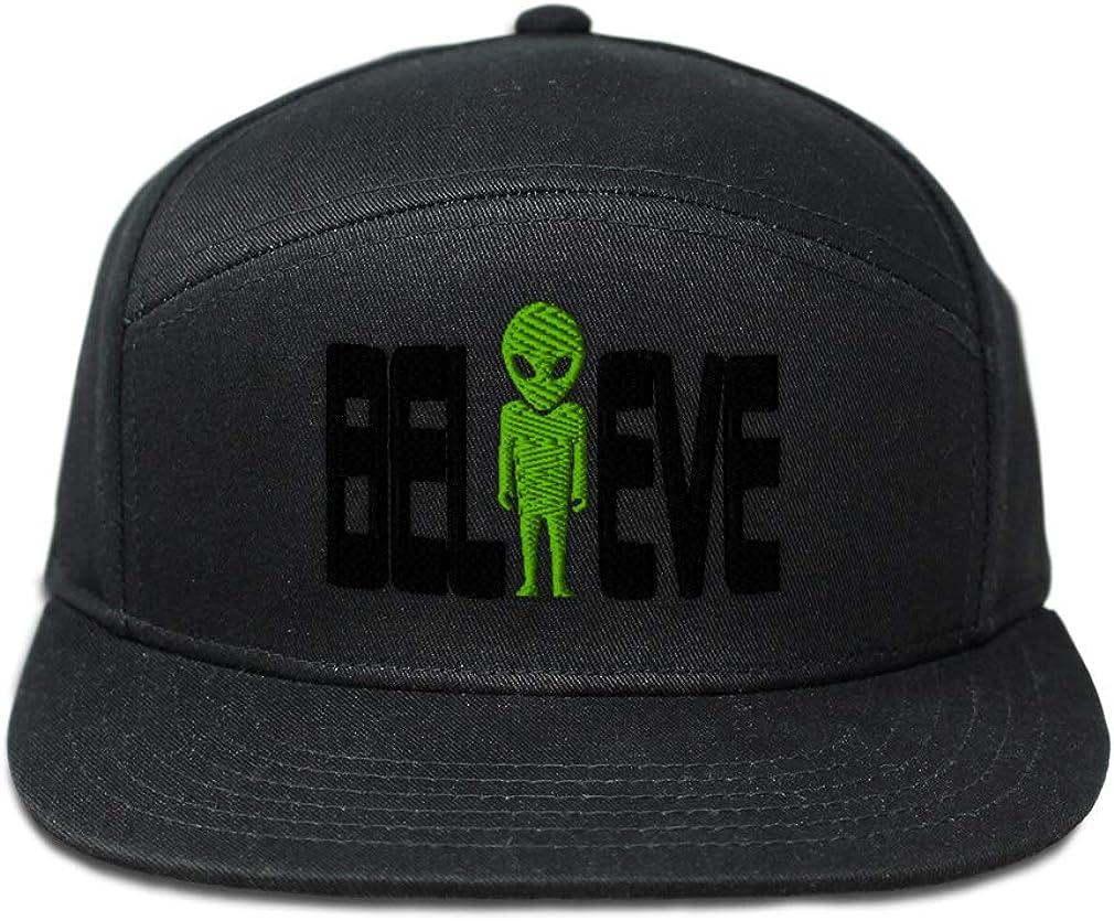Custom Snapback Hats for Men /& Women Alien Believe Embroidery Cotton Snapback