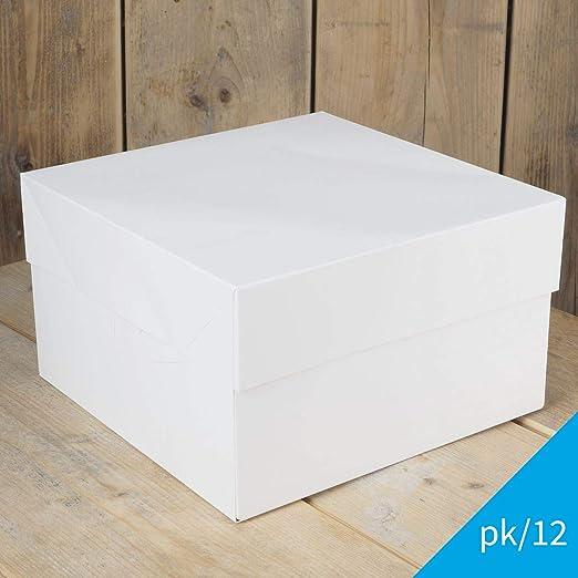 FunCakes - 25 x Caja Blanca para Transportar Tartas (20X20X15CM ...