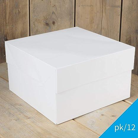 FunCakes - 12 x Cajas Blancas para Transportar Tartas ...