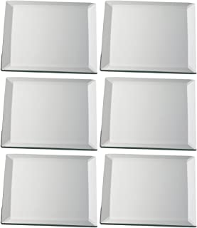Biedermann \u0026 Sons Decorative Beveled Square Mirror Plate Set of 6 ...  sc 1 st  Amazon.com & Amazon.com: Biedermann \u0026 Sons 4-Inch Round-Shaped Beveled Mirror ...