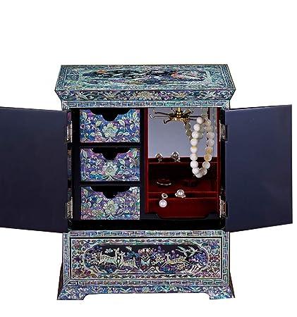 irugh Caja de joyería, Caja de Almacenamiento de Madera, China, Manualidades, Caja