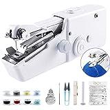 Oscaurt Handheld Sewing Machine for Beginners, Mini Stitching Sewing Machine Hand Electric Cordless Portable Sewer…