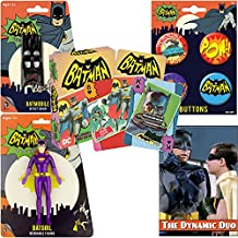 PopShoppes Batgirl (Batman Classic TV Series) PopBox Deluxe Set (Bendable Figure, Playing Cards, Bendable Keychain, Magnet and Button Set) Cool Value!