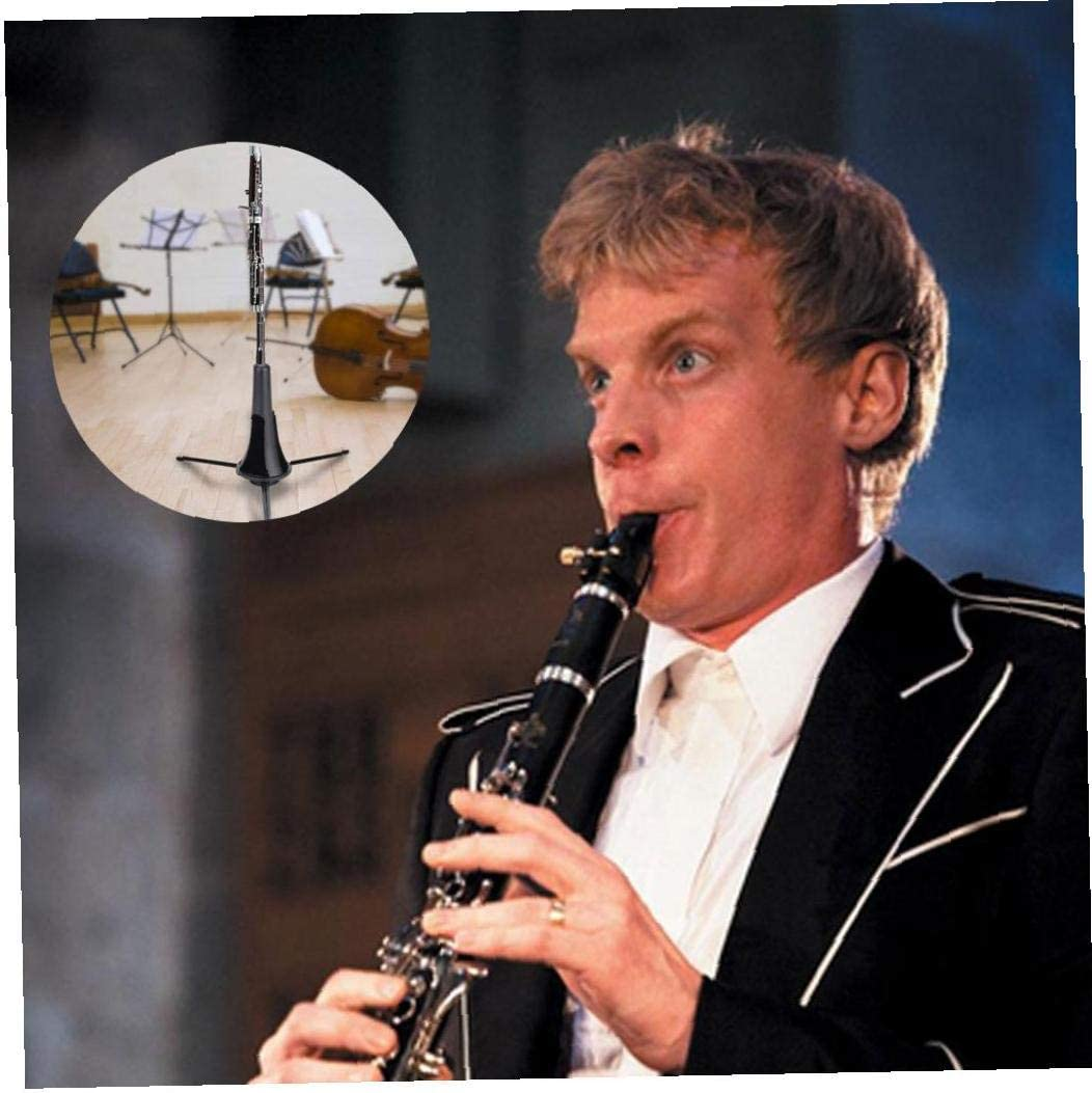 Clarinete Oboe Clarinete Oboe Soporte Plegable sostenedor del tr/ípode Instrumentos Musicales Accesorios Soporte Negro
