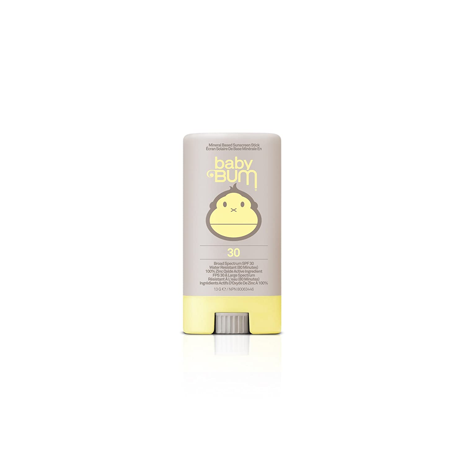Sun Bum Baby Bum Mineral Based Moisturizing Sunscreen Lotion, SPF 30, 88 mL Tube, 1 Count, Broad Spectrum UVA/UVB Protection, Natural, Hypoallergenic, Paraben Free, Pediatrician Approved