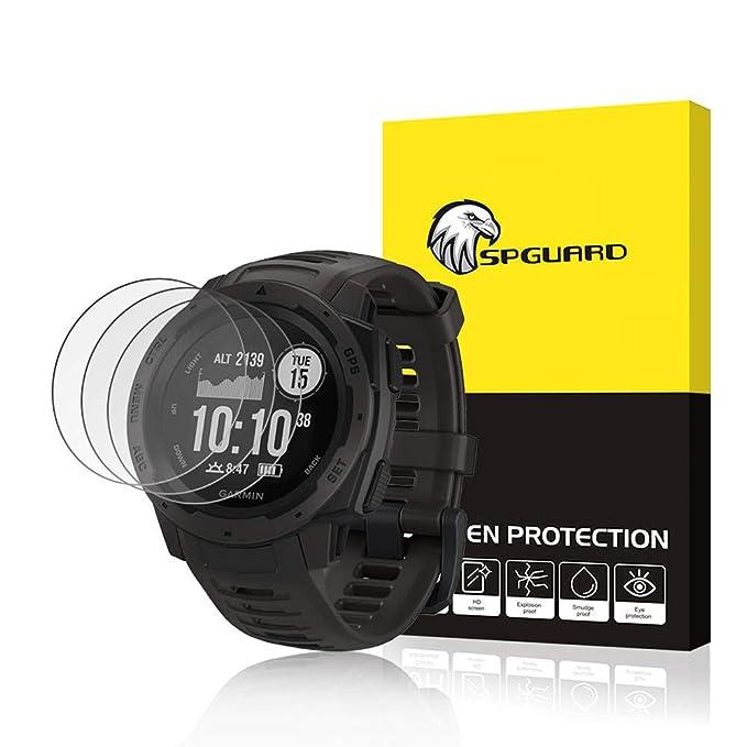3 Pack] SPGuard Compatible Garmin Instinct reloj Protector ...